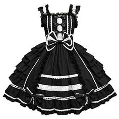 Nuoqi Girls Sweet Lolita Dress Princess Lace Court Skirts Cosplay... ($16) ❤ liked on Polyvore featuring dresses