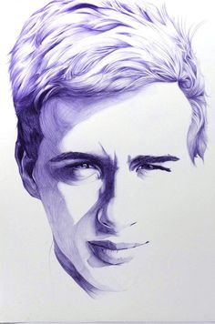 Portrait, Ballpoint Pen, x Ballpoint Pen Drawing, Ink Pen Drawings, Pen Sketch, Art Sketches, Human Figure Sketches, Human Face Drawing, Portrait Art, Portraits, Portrait Illustration