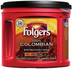 Folgers Ground Coffee 100% Colombian Medium Dark 27.8oz (2 Pack) Folgers http://www.amazon.com/dp/B00IGGL1BW/ref=cm_sw_r_pi_dp_9qurub0YE1T2J