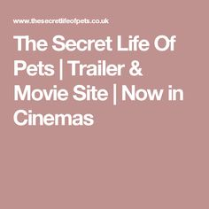 The Secret Life Of Pets | Trailer & Movie Site | Now in Cinemas