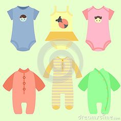 Set of baby fashion style with many various color and model