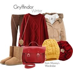 """Gryffindor: Winter"" by evalupin on Polyvore"