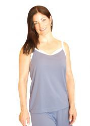 Wicking camisole for travel and night sweats and menopause