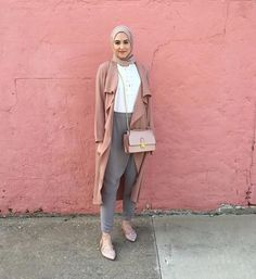 Hijab + Flowy Pink Jacket + Inayah Pants (withloveleena)