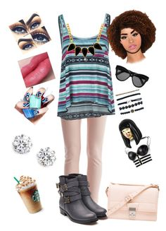 something that I would wear in the morning to get some Starbucks and go over my friends house by aysiastyle on Polyvore featuring polyvore fashion style Billabong VILA Rupert Sanderson 3.1 Phillip Lim Kenneth Jay Lane George & Laurel Wet Seal Linda Farrow Nicki Minaj Essie clothing