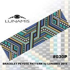 Peyote bracelet pattern, peyote pattern, stitch pattern, pdf file, pdf pattern, #030P