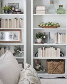5 simple tips for how to decorate or styling bookshelves with books, vases, and with pictures. Built in bookcase or Ikea. bookshelves with pictures 5 Simple Tips For Decorating Shelves - Organised Pretty Home Styling Bookshelves, Creative Bookshelves, Decorating Bookshelves, Bookshelf Design, Built In Bookcase, Bookshelf Ideas, Bookcases, Book Shelves, How To Decorate Bookshelves