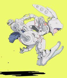 Character Creation, Character Concept, Character Art, Concept Art, Arte Robot, Robot Art, Rabbit Illustration, Character Illustration, Cultura Nerd