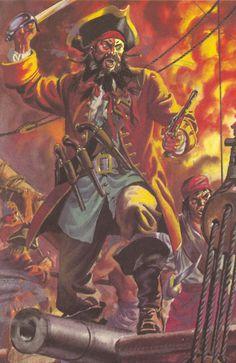 Blackbeard- Pirates.  Author: Lawrence du Garde Peach Illustrator: Frank Humphris (1970)