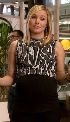 Jeannie's zebra striped crop top on House of Lies.  Outfit Details: http://wornontv.net/45972/ #HouseOfLies