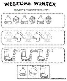 best winter worksheet for kids images  kids worksheets  christmas winter pattern worksheet for kids