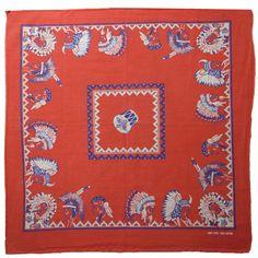 Indian motif bandanna