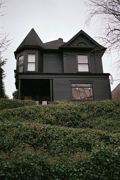 Black painted Victorian home