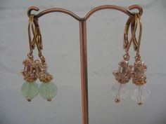 pomp art *  Ohrhänger FROSCHKÖNIG vergoldet Ohrringe * Swarovski Kristalle *