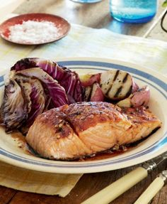 Salmon with citrus-spice glaze. This mouthwatering dish takes only 15 minutes to make!