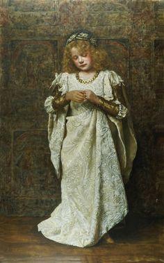 John Collier – Çocuk Gelin Tamamlanma Tarihi : 1883 Türü : Romantizm  #ortacagayolculuk #ortacag #JohnCollier #Romantizm #CocukGelin