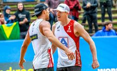 What an amazing comeback for Tri Bourne at the world championships after his long sick leave. In the rain of Hamburg, he and his friend Trevor Crabb took down reigning world champion Andre and his par Amazing Comebacks, Tie Break, Norwegian Vikings, Match Point, Young Guns, Final Four, Beach Volleyball, World Championship, Champs