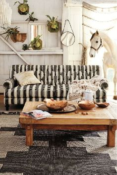 Decorating with Stripes: Couch