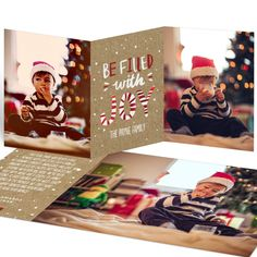 This Peppermint flavor holiday card is irresistible! #ChristmasCards #classic #holiday