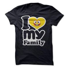 Personalized Name I love my family Shirts & Tees