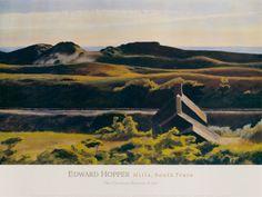 Hills, South Truro, 1930 by Edward Hopper Kunstdruk
