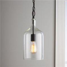 Glass Jug Pendant - Shades of Light