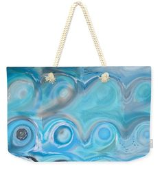 Weekender Tote Bag- Circles And Squares 47. Modern Abstract Fine Art