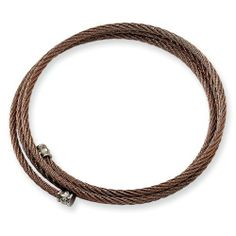 Chisel Stainless Steel Chocolate Color IP-plated Cable Bracelet Chisel. $26.95