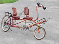I want a recumbent bike!  Might consider Tandem, good for Michael and I both, also it would be a place for grandson to ride when he got a little older or to store stuff for longer trips...a three wheeler would be easier to balance!
