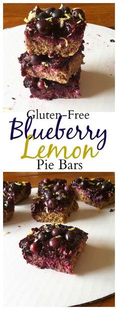 #healthy #glutenfree Blueberry Pie bars  #vegan
