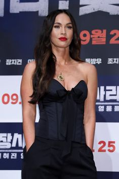 Megan Fox at Battle of Jangsari Press Conference in Seoul Megan Fox Transformers, Megan Fox Photos, Brian Austin Green, War Film, Black Corset, Old Actress, Beauty Queens, New Movies, Celebrity Photos