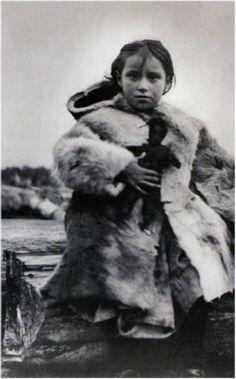 Mi'kmaq girl in caribou coat http://www.storiesofconneriver.ca/EN/history/rememberingpast.php