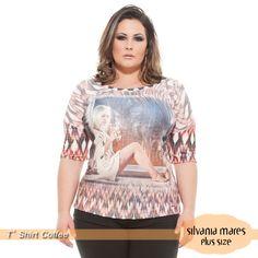 T' shirt plus size - Estampa Coffe