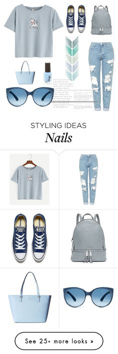 """Blue"" by laras03 on Polyvore featuring Topshop, MICHAEL Michael Kors, Kate Spade and Converse"