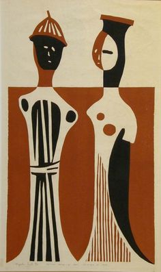 Kiyoshi Saito - Haniwa Pair, 1954