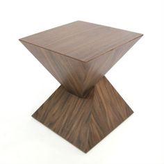 Pyramid Side Table - Walnut