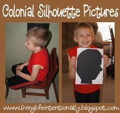 Make your own Silhouette Pictures  -The Story of the Declaration of Independence  -Betsy Ross