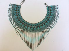 Hand beaded necklace made in Santiago by Beadsandbaublesdall
