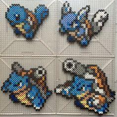 #007-#009 Squirtle Family - Pokemon perler beads by TehMorrison on DeviantArt