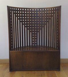 Charles Rennie Mackintosh (1868-1928) - Chair. Oak. Designed for the Willow Tea Rooms. Glasgow, Scotland. Circa 1904.