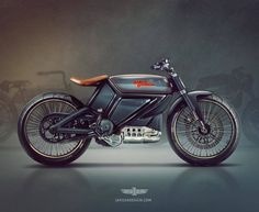 Harley-Davidson Bobber Electric Motorcycles Vintage Style by Jakusa design #motorcycles #bobber #motos | caferacerpasion.com