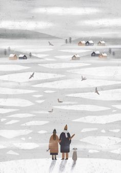 24th ДЕК 2015✧09:0835 заметок nastia sleptsov, a winter illustration; better together