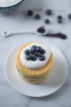 Buttermilk Chiffon Cakes with Blueberry Curd and Buttermilk Whipped ...