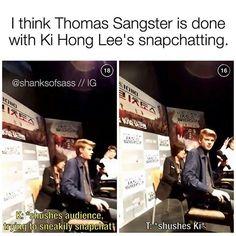Yeah sure :'D | Ki Hong Lee snapchat and Thomas Sangster