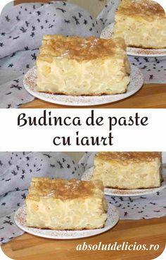 Absolut Delicios: BUDINCA DE PASTE CU IAURT - RETETA VIDEO