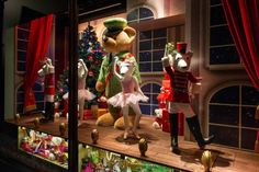 The very best Christmas Window Displays from shops & department stores around the world. Christmas Window Decorations, Christmas Window Display, Window Display Design, Store Window Displays, Christmas Windows, Christmas Displays, Harrods Christmas, Christmas Store, Christmas Shopping
