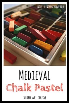 Medieval Chalk Pastels: Video Art Course - Do your kids love history and art? Why not combine the two with a medieval chalk pastels video art course! Chalk Pastel Art, Chalk Pastels, 7th Grade Art, Sixth Grade, Art Activities For Kids, Steam Activities, New York Graffiti, Sidewalk Chalk Art, Medieval Art