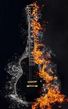 Guitar Wall Art, Guitar Pics, Guitar Painting, Music Guitar, Musik Wallpaper, Galaxy Wallpaper, Music Drawings, Music Artwork, Photo Backgrounds