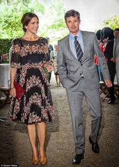 03 June 2014 Danish Royal Family attended a reception on the occasion of Prince Henrik's 80th birthday in the Orangery at Fredensborg Castle.