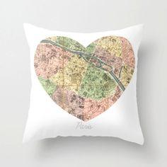 Paris Pillow Cover Zippered Polyester Poplin by KaleidoscopePhoto, $35.00